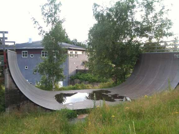 Farum skateboard vert rampe